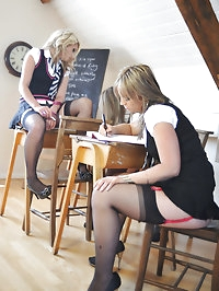 Schoolgirl babes Candice Collyer, Emma-Claire Jones and..