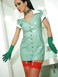 Pervy nurse fucks her plastic doll