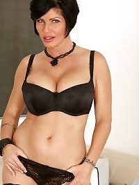 Classy Anilos Shay Fox in her all black undies and..