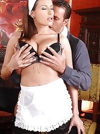 Sexy maid Sensual Jane gets fucked