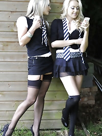 Candice Collyer and Lucy-Anne Brooks outdoor pictures