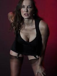 Nylon Jane looks fucking sexy and seductive as she poses..