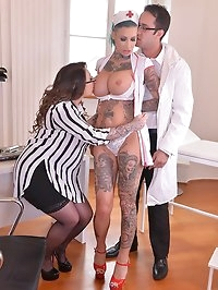 Tattooed Nurses Gone Wild - Humiliation in The Doctor's..