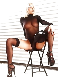 in an edgy pictorial with sexy nylons