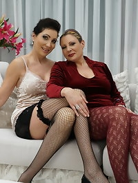 These horny lesbian housewives love to fool around