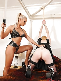 Pale maid gets punished by dom