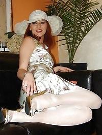 white nylon and panty flash